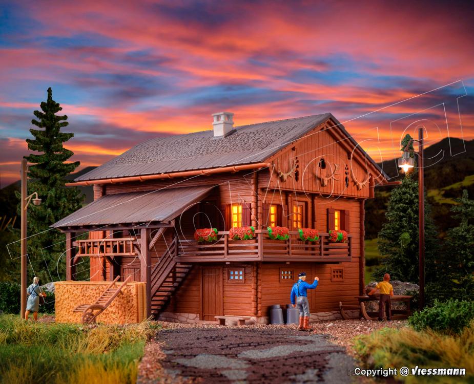 Kibri casa di montagna con illuminazione a led