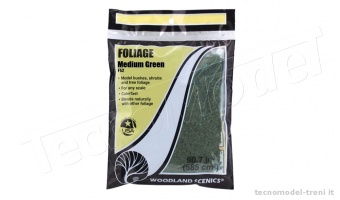 Woodland Scenics F52 Foliage medium green