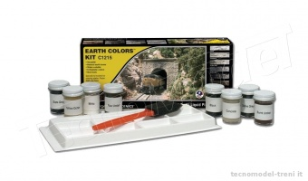 Woodland Scenics C1215 Earth Colors Kit, 8 colori speciali per rocce