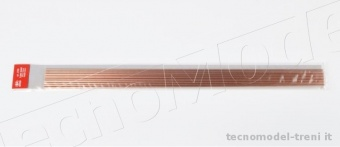 Amati 2750.03 Tubo in rame crudo 2,2 x 3 mm, lunghezza 500 mm