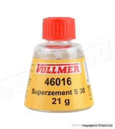 Vollmer 46016 Colla per plastica Superzement S30 25ml. con applicatore a pennello.
