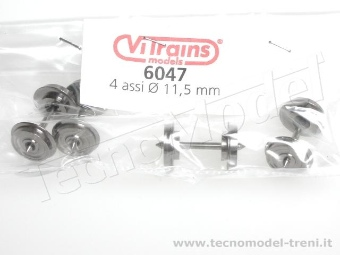 Vitrains 6047 Assali diametro ruote 11,5 mm, distanza tra le punte 24,5 mm, 4 pz.