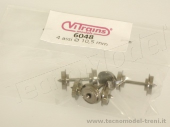 Vitrains 6048 Assali diametro ruote 10,5 mm, distanza tra le punte 24,5 mm, 4 pz.