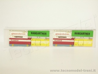 Hobbytrain 9004 Set 8 container assortiti . Scala N 1/160