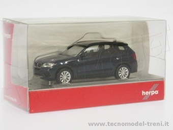 Herpa 034630 BMW X3 TM blu metal.