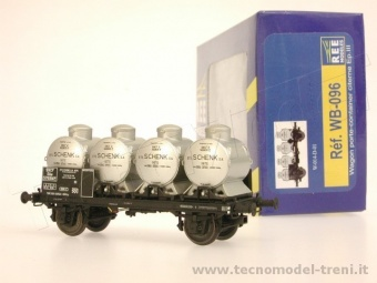 REE Modeles WB-096 Carro pianale SNCF porta container cisterna ep. III