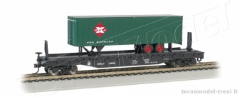 Bachmann 16702 Flat car W/ piggy back trailer B&O