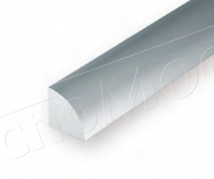 Evergreen Plastic EV0249 Quarto di tondo diametro 2 mm lunghezza 350 mm, 3 pz.