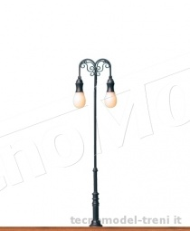 Brawa 84036 Lampione ornamentale con due luci a Led H.100 mm