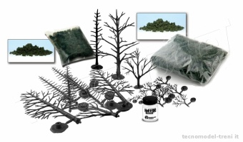 Woodland Scenics LK953 Trees Learning Kit - Set per realizzare alberi
