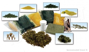 Woodland Scenics LK956 Scenery Details Learning Kit - Set per realizzare vegetazione