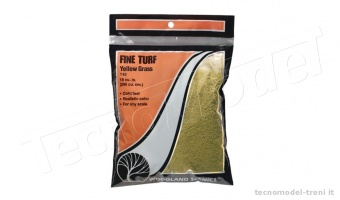 Woodland Scenics T43 Fine Turf Yellow Grass in bustina da 353 cu cm