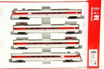 Rivarossi HR2506 Set 4 elementi ETR 450 'Pendolino' FS in livrea bianco/rossa e logo inclinato, epoca V. Digital Sound.