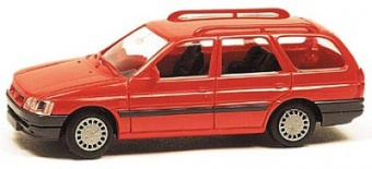 Rietze 10380 Ford Escort Telerent , color rosso