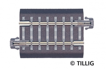 Tillig 83703 Binario dritto G4 con massicciata, scala TT 12mm (1:120)