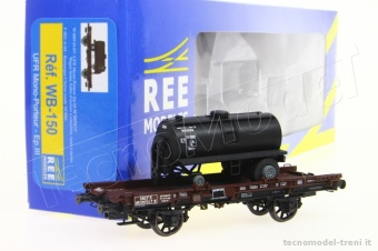 REE Modeles WB-150 SNCF UFR pianale con carico ep.III