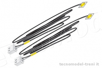 Woodland Scenics JP5742 Set due Led giallo con cavi . Just Plug� Lighting System
