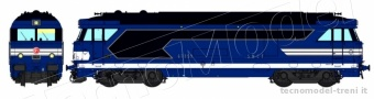 REE Modeles MB-025S SNCF BB 670359 dep. TOURS ep.III ep.V DCC Sound e Fumo di scarico