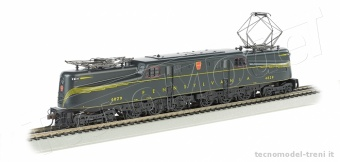 Bachmann 65307 PRR #4829 Green Feathered Stripe-DCC Sound Value (HO GG1)