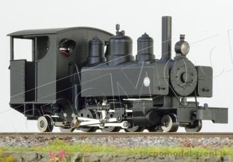 MinitrainS 1074 Locomotiva a vapore Baldwin 2-6-2 Trench Train, black, closed cab HOe