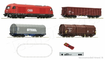 Roco 51282 ÖBB start Set Digitale z21 + locomotiva Diesel Gruppo 2016 + treno merci