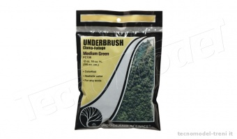 Woodland Scenics FC136 Underbrush Medium Green in bustina da 353 cu cm