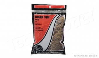 Woodland Scenics T60 Coarse Turf Earth in bustina da 353 cu cm