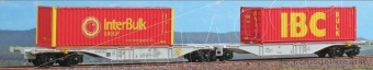 Acme 40292 Carro intermodale tipo Sggmrss 'ERS Railwais' con due container bulk 'InterBulk' e 'IBC'