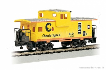 Bachmann 17709 Chessie® - Yellow - 36' Wide-Vision Caboose (HO Scale)