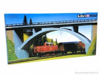 Kibri 9668 Ponte ferroviario in cemento a cassone, in kit di montaggio. New, old stock -35%